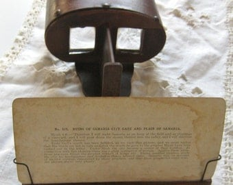 Stereoscope and 25 Vintage Viewing Cards- 1904