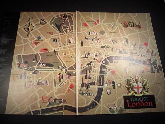 1956 LONDON TOURIST GUIDE