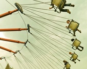 Carnival Photography, summer fair, swing ride,  All the World's a Fair - 8x8 fine art photograph