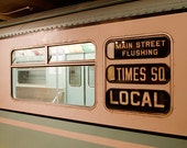 New York Subway photo, New York Photography, antique NYC subway sign, vintage sign - 11x14 fine art photograph
