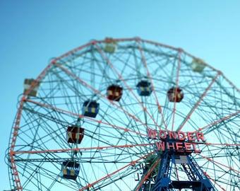 Coney Island Photo, Wonder Wheel Photo, Ferris wheel photo, Brooklyn photo - 8x10 fine art photograph