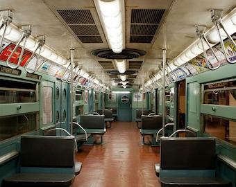 New York Subway photo, New York Photography, vintage NYC subway sign - fine art photograph
