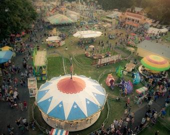 Carnival Photo, summer fair photo, county fair, Bird's Eye View - fine art photograph