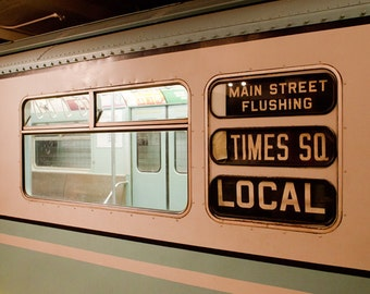 New York Subway photo, New York Photography, antique NYC subway sign, vintage sign - fine art photograph
