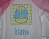 Boy's Easter Egg Patch Bodysuit/T-Shirt