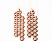Honeycomb, Laser Cut Earrings