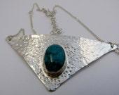 Argentium silver pendant with semi precious stone - item 2