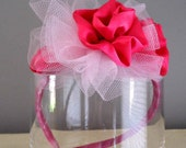 Toddlers/Girls Satin Roses and Tulle Headband