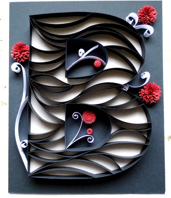 il_570xN.319758163 Quilling Letter B Template on