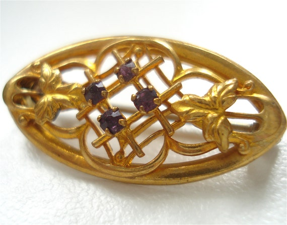 Antique 1900s Gold Washed Pin