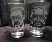 Big Lebowski 16 oz Glasses- Set of 2
