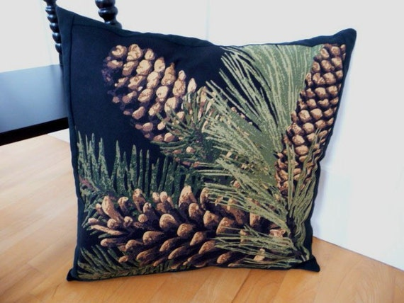 Big Pinecone ( Pine Cone ) Pillow Cover for Fall, Thanksgiving, and Christmas 18 Inch