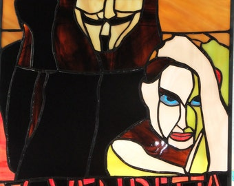 V for Vendetta Stained Glass Window