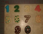 Chocolate Number toppers