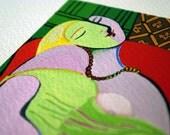 Le rêve - Pablo Picasso - Miniature hand painting