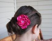 Handmade Satin, Organza, and Sheer Flower Hair Clips