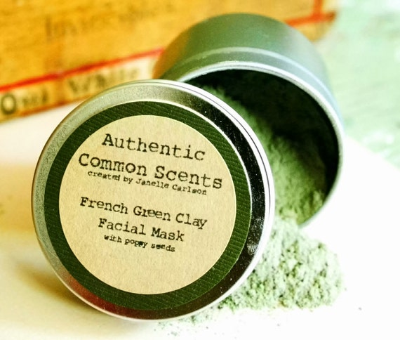 French Green Clay Face Mask, Matcha Green Tea, Dry Mask, Matcha Face Mask, Organic Face Mask, Natural Face Mask, Valentine's Day Gift