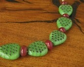 Prickly Pear With Fruit Lampwork Bead Set (10)