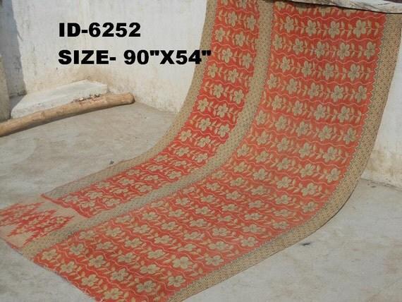 Vintage Kantha Quilt Gudri Reversible Throw Ralli :6252