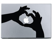Heart Shaped Hands - Mac Decal Macbook Stickers Macbook Decals Apple Decal  Macbook Pro Sticker Macbook Air  iPad2 Decals