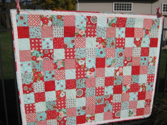 Moda Bliss Lap Quilt - Flannel Backed