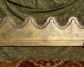 MID CENTURY HEADBOARD -  King Solid Wood Arch Design Painted Teal Fuschia Gold