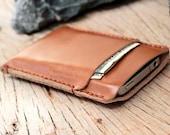 2 side mini beige leather iphone case