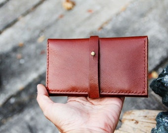 Multi function brance brown leather iphone wallet