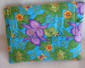 Ipad 1, 2 or 3 Sleeve in Whimsical Frog Fabric