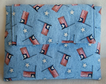 Ipad 1, 2 or 3 Sleeve in Patriotic Flags