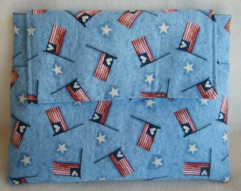 Tablet or Ipad Sleeve with Patriotic Flags