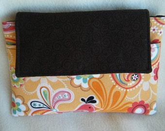 Kindle Sleeve in Orange Paisley - HANDMADE BY ME