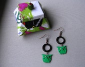 Laquered Origami Earrings Owls