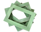 Set of 5 Shabby Frames Mint French County Stlye
