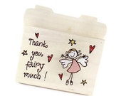 """Shabby Primitive Treasure Gift Box """" Thank you Fairy ... """" -  French Country Stlye"""