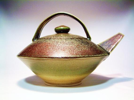 LARGE green Teapot