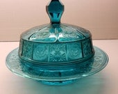 Doric & Pansy Covered Butter Dish - Ultramarine