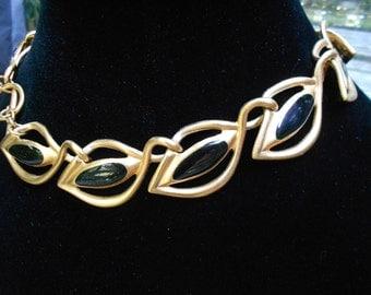 1970'S Anne Klein Leaf Necklace