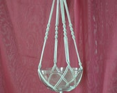 """Hand Crafted Macrame Plant Hanger- Silver 35"""""""