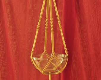 """Hand Crafted Macrame Plant Hanger- Jute 35"""""""