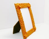 funky picture frame  //  orange housewares  //  upcycled home decor  // photo frames, picture holder