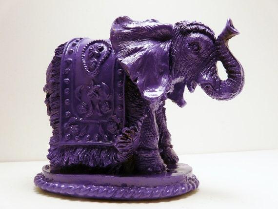 Bohemian Elephant Figurine // Purple Home Decor // By Nashpop