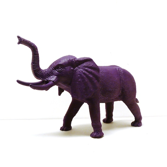 Bohemian Elephant Figurine Violet Purple Home Decor By Nashpop