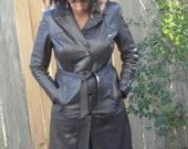 Dark Brown Trench Coat/Jacket Genuine Leather