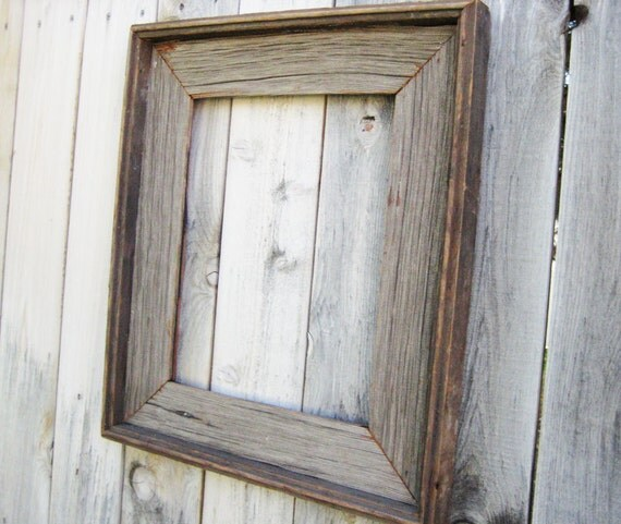 rustic reclaimed wood frame empty wood frame rustic wood decor barn wood frame