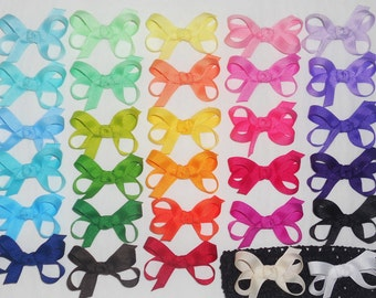 SALE 10 Baby Bows Baby Hair Bows Baby Hair Clips Baby Hair Bow Set Boutique Hair Bows Newborn Infant Bows Girl Baby Shower Gift Set-U Choose