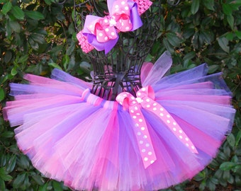 SALE-Baby Tutu Purple Pink Tutu 1st Birthday Tutu First Birthday Tutu Cake Smash Tutu Girls Tutu Set Newborn Infant Toddler Tutu Rapunzel