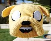 Jake the Dog Inspired Hat: Adventure Time -ish Handmade Crochet Beanie Hat