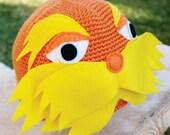 Lorax Inspired Hat: Dr. Seuss -ish Handmade Cartoon Animation Crochet Beanie Hat