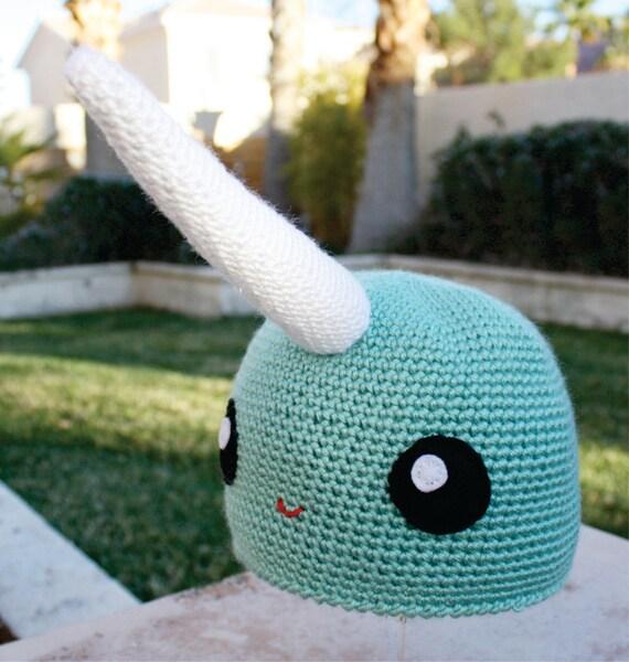 Narwhal Hat: Kawaii Japanese -ish Handmade Crochet Beanie Hat